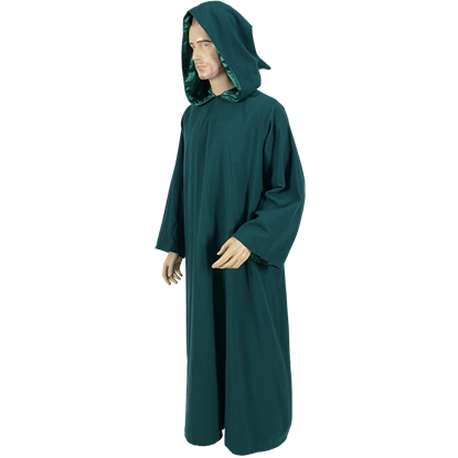 Celtic Ritual Robe With Hood - Green