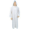 Celtic Ritual Robe With Hood - White, 55 Inch Length