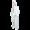 Medieval Ritual Cloak/Robe - White, 61 Inch Length