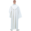 Celtic Ritual Robe With Hood - White, 57.5 Inch Length