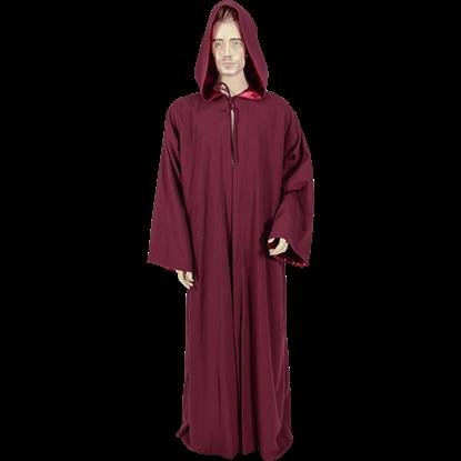 Burgundy Hooded Ritual Robe
