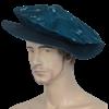 Floppy Renaissance Hat - Turquoise