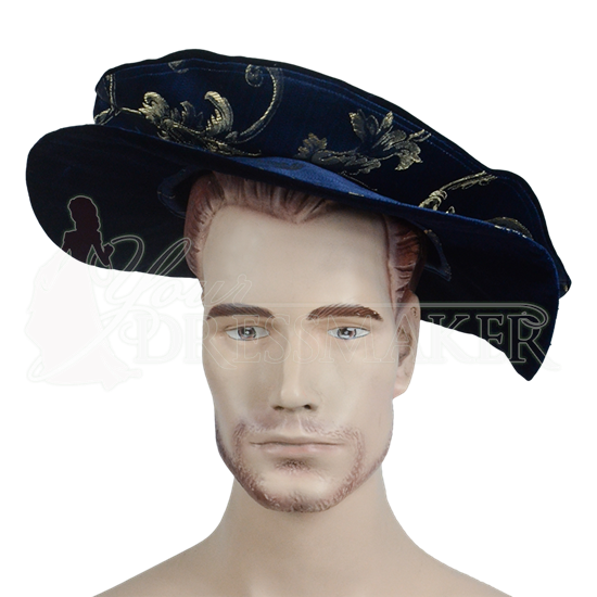 Floppy Renaissance Hat - Dark Blue