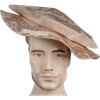 Floppy Renaissance Hat - Rose with Gold