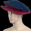 Floppy Renaissance Hat - Blue and Burgundy