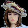 Womens Striped Renaissance Hat