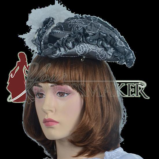 Antoinette Renaissance Hat - Silver