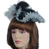 Antoinette Renaissance Hat - Black and Silver