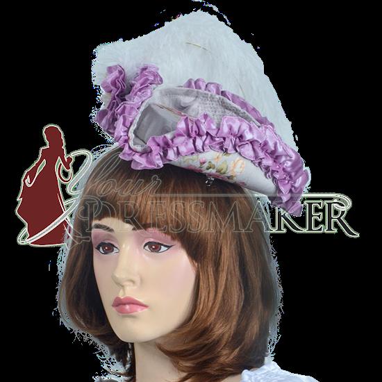 Antoinette Renaissance Hat - Purple and Pink