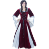 Burgundy Fair Maidens Gown - 50 Inch Length