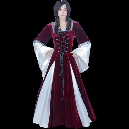 Burgundy Fair Maidens Gown - 50 Inch Length