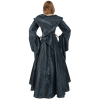 Hooded Medieval Demoiselle Dress - Black