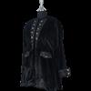 Womens Black Velvet Baroque Frock Coat