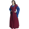 Marie Louise French Renaissance Dress - Burgundy and Blue
