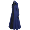 Medieval Maiden Hooded Dress - Blue and Black