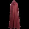 Womens Cotton Cloak - Burgundy