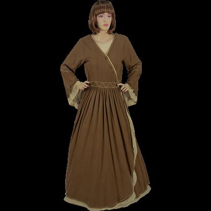 Lady's Casual Castle Dress  - Light Brown