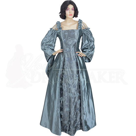 Silver Shoulder Strap Renaissance Dress