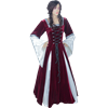 Burgundy Fair Maidens Gown - 61.5 Inch Length