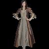Odette Victorian Style Dress - Bronze