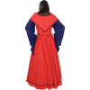 Rustic Medieval Dress - Red and Blue