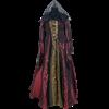 Embroidered Medieval Dress - Burgundy