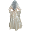 Embroidered Medieval Dress - Cream and Brown