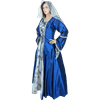 Embroidered Medieval Dress - Blue
