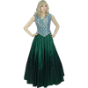 Lace Bodice Sleeveless Dress - Green