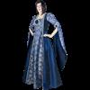 Blue Rose Draped Sleeve Renaissance Dress