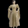 Draped Sleeve Renaissance Dress - Cream