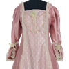 Charlotte Victorian Style Dress - Pink