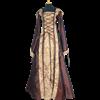Hooded Renaissance Sorceress Gown - Brown