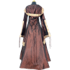 Hooded Renaissance Sorceress Gown - Brown