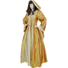 Hooded Renaissance Sorceress Gown - Gold, X-Large