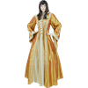 Hooded Renaissance Sorceress Gown - Gold, Large