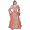 Hooded Renaissance Sorceress Gown - Rose Floral, X-Large