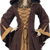 Woodland Peasant Dress - X-Large