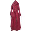 Woodland Peasant Dress - Burgundy and Black