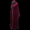 Royal Velvet Hooded Robe - Red
