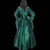 Hooded Renaissance Sorceress Gown - Green, X-Large