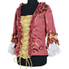 Womens Baroque Bodice - Red and Gold