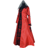 Medieval Dress - Red and Black