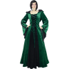 Elven Princess Dress - Green and Black