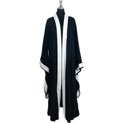 Wiccan Ritual Robe - Black and White