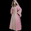Hooded Renaissance Sorceress Gown - Pink