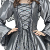 Embroidered Medieval Dress - Silver