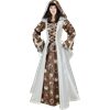 Elven Princess Dress - White and Brown