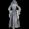 Hooded Renaissance Sorceress Gown - Grey
