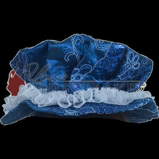 Ornate Renaissance Hat - Blue